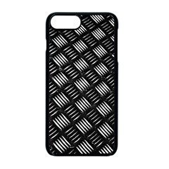 Abstract Of Metal Plate With Lines Apple Iphone 7 Plus Seamless Case (black) by Jojostore