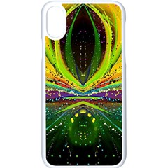 Future Abstract Desktop Wallpaper Apple Iphone X Seamless Case (white)