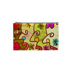 Abstract Faces Abstract Spiral Cosmetic Bag (small) by Jojostore