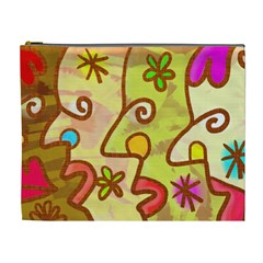 Abstract Faces Abstract Spiral Cosmetic Bag (xl) by Jojostore