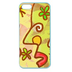 Abstract Faces Abstract Spiral Apple Seamless Iphone 5 Case (color) by Jojostore