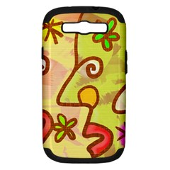 Abstract Faces Abstract Spiral Samsung Galaxy S Iii Hardshell Case (pc+silicone) by Jojostore