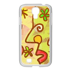 Abstract Faces Abstract Spiral Samsung Galaxy S4 I9500/ I9505 Case (white)