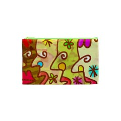 Abstract Faces Abstract Spiral Cosmetic Bag (xs) by Jojostore