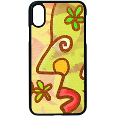 Abstract Faces Abstract Spiral Apple Iphone X Seamless Case (black)