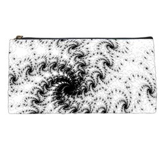 Fractal Black Spiral On White Pencil Cases by Jojostore