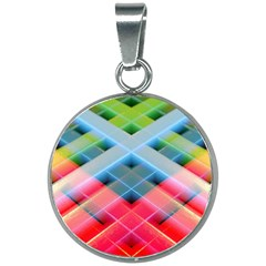 Graphics Colorful Colors Wallpaper Graphic Design 20mm Round Necklace