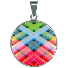 Graphics Colorful Colors Wallpaper Graphic Design 30mm Round Necklace