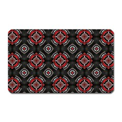 Abstract Black And Red Pattern Magnet (rectangular) by Jojostore