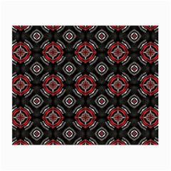 Abstract Black And Red Pattern Small Glasses Cloth by Jojostore