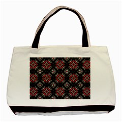 Abstract Black And Red Pattern Basic Tote Bag by Jojostore