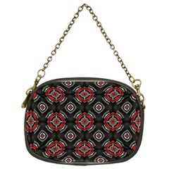 Abstract Black And Red Pattern Chain Purse (two Sides)