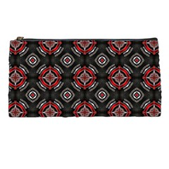 Abstract Black And Red Pattern Pencil Cases by Jojostore