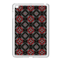 Abstract Black And Red Pattern Apple Ipad Mini Case (white)