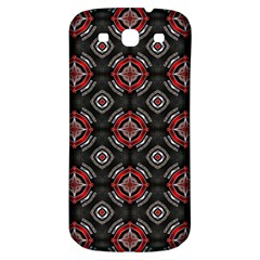 Abstract Black And Red Pattern Samsung Galaxy S3 S Iii Classic Hardshell Back Case