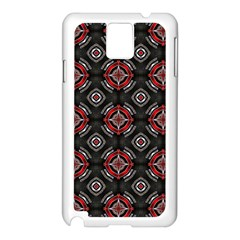Abstract Black And Red Pattern Samsung Galaxy Note 3 N9005 Case (white)