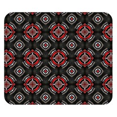 Abstract Black And Red Pattern Double Sided Flano Blanket (small)