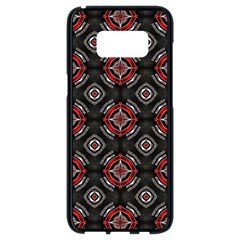 Abstract Black And Red Pattern Samsung Galaxy S8 Black Seamless Case