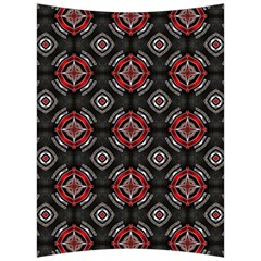 Abstract Black And Red Pattern Back Support Cushion