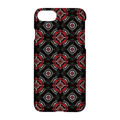 Abstract Black And Red Pattern Apple Iphone 8 Hardshell Case by Jojostore