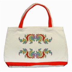 Fractal Kaleidoscope Of A Dragon Head Classic Tote Bag (red) by Jojostore