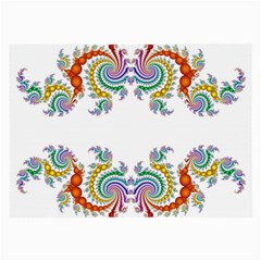 Fractal Kaleidoscope Of A Dragon Head Large Glasses Cloth (2 Side) by Jojostore