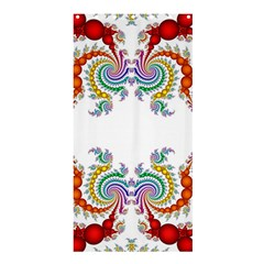 Fractal Kaleidoscope Of A Dragon Head Shower Curtain 36  X 72  (stall)  by Jojostore