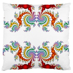 Fractal Kaleidoscope Of A Dragon Head Large Cushion Case (one Side) by Jojostore
