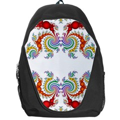 Fractal Kaleidoscope Of A Dragon Head Backpack Bag