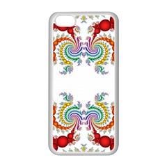 Fractal Kaleidoscope Of A Dragon Head Apple Iphone 5c Seamless Case (white) by Jojostore