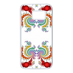 Fractal Kaleidoscope Of A Dragon Head Samsung Galaxy S7 White Seamless Case