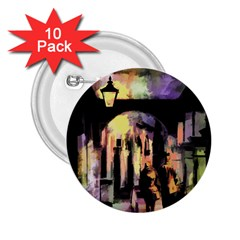 Street Colorful Abstract People 2 25  Buttons (10 Pack)