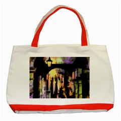 Street Colorful Abstract People Classic Tote Bag (red) by Jojostore