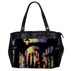 Street Colorful Abstract People Oversize Office Handbag by Jojostore