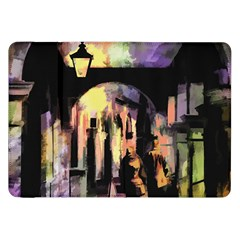 Street Colorful Abstract People Samsung Galaxy Tab 8 9  P7300 Flip Case