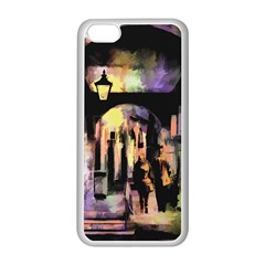 Street Colorful Abstract People Apple Iphone 5c Seamless Case (white) by Jojostore