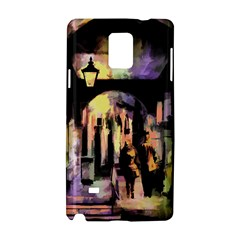Street Colorful Abstract People Samsung Galaxy Note 4 Hardshell Case by Jojostore