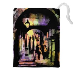 Street Colorful Abstract People Drawstring Pouch (xxl) by Jojostore