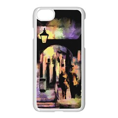 Street Colorful Abstract People Apple Iphone 8 Seamless Case (white) by Jojostore
