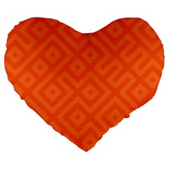 Seamless Pattern Design Tiling Large 19  Premium Flano Heart Shape Cushions by Sapixe