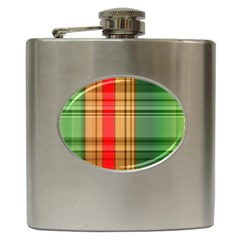 Seamless Pattern Design Tiling Hip Flask (6 Oz)