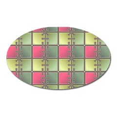 Seamless Pattern Seamless Design Oval Magnet