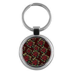 Seamless Tile Background Abstract Key Chains (round)  by Sapixe
