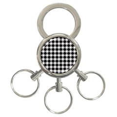 Square Diagonal Pattern Seamless 3 Ring Key Chains