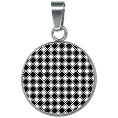 Square Diagonal Pattern Seamless 20mm Round Necklace