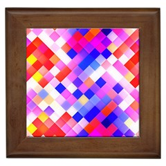 Squares Pattern Geometric Seamless Framed Tiles