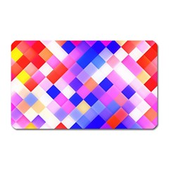 Squares Pattern Geometric Seamless Magnet (rectangular)