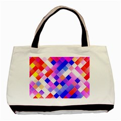 Squares Pattern Geometric Seamless Basic Tote Bag (two Sides)