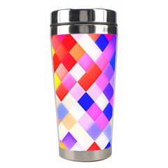 Squares Pattern Geometric Seamless Stainless Steel Travel Tumblers