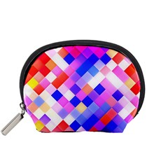 Squares Pattern Geometric Seamless Accessory Pouch (small)
